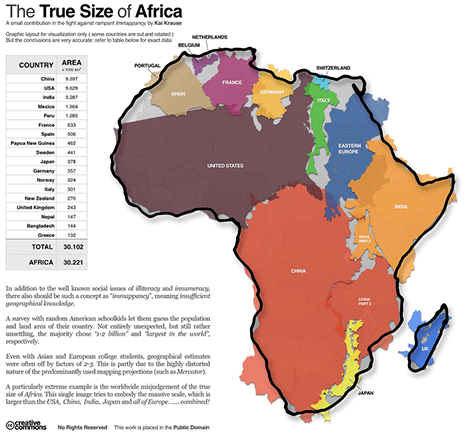 Map Africa Relative