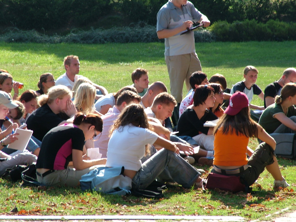 Lecture in grass