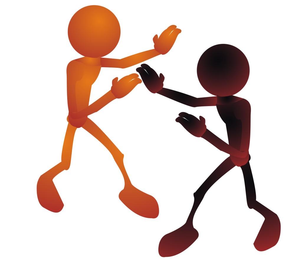 Conflict stick figures