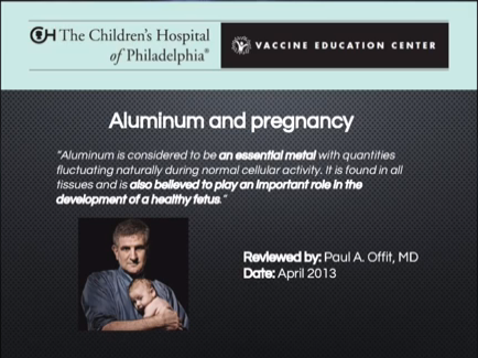SH Paul Offit on Aluminum